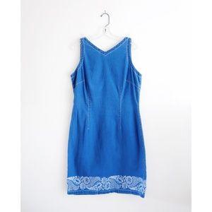 Vintage Blue Denim Sleeveless Dress sz 12